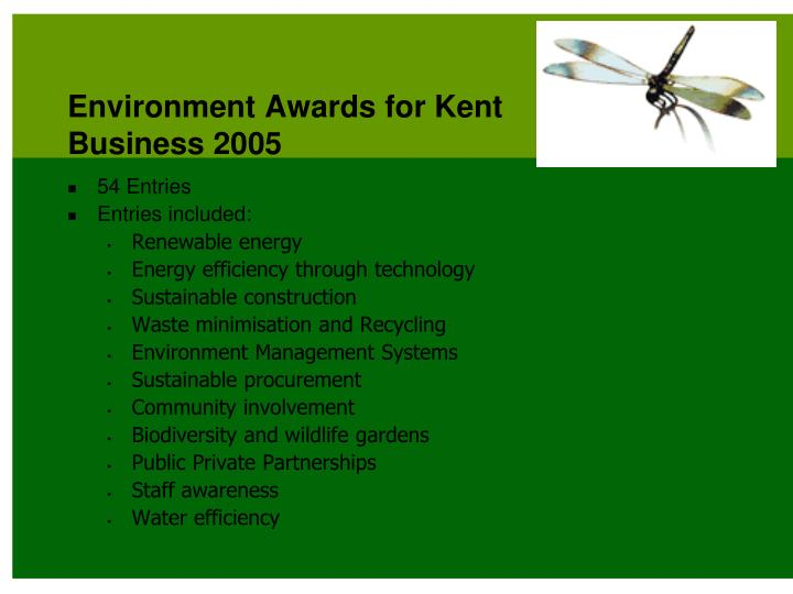 Environment Awards for Kent