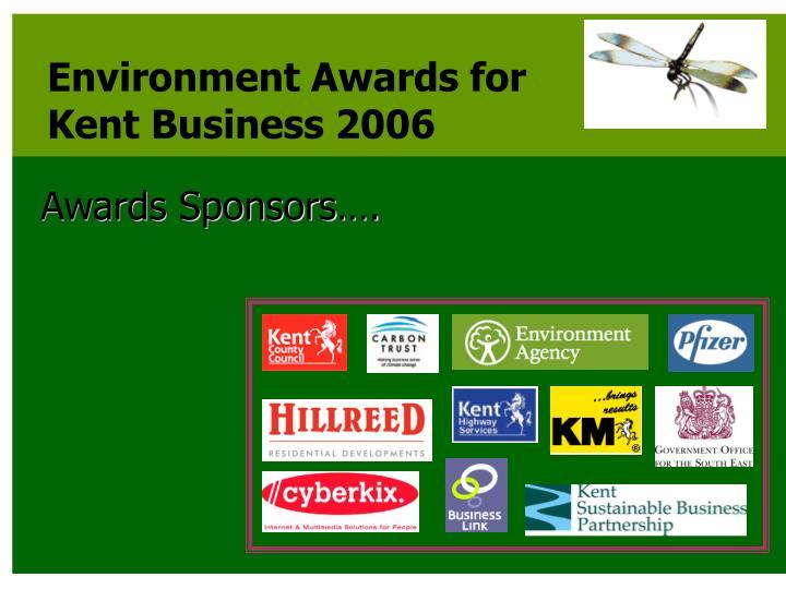 Awards Sponsors….