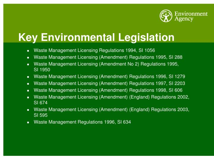 Key Environmental Legislation