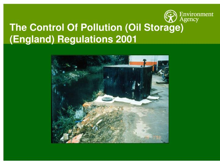 The Control Of Pollution (Oil Storage) (England) Regulations 2001