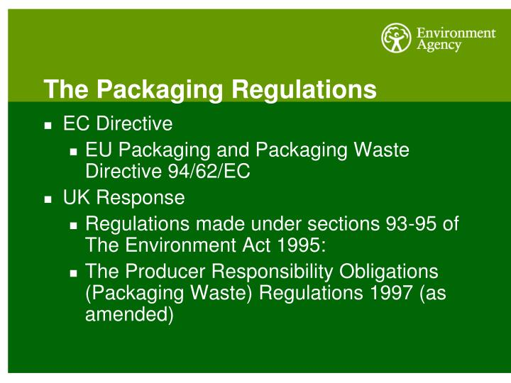 The Packaging Regulations