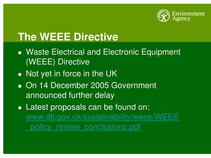 The WEEE Directive