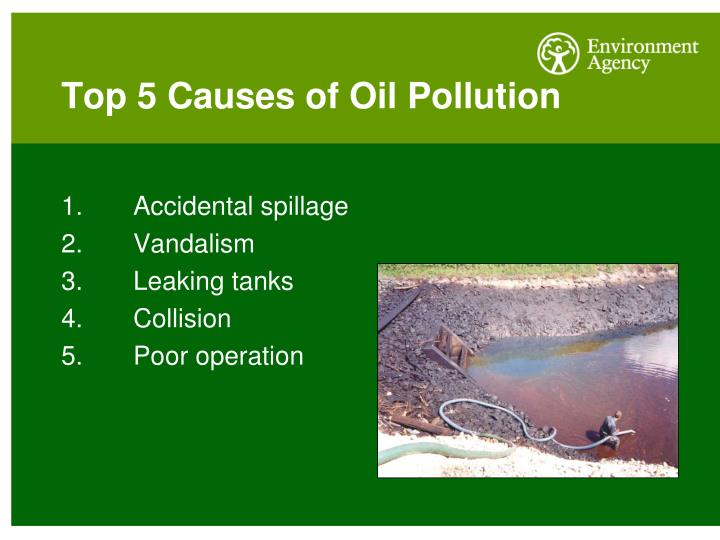 Top 5 Causes of Oil Pollution