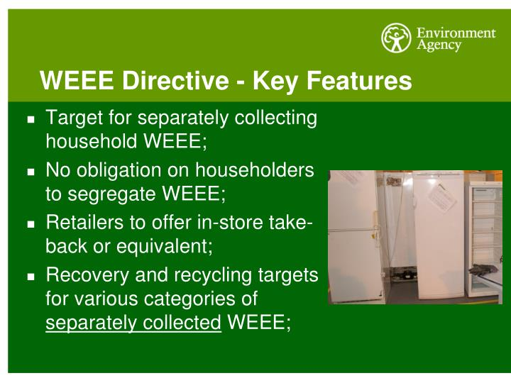 WEEE Directive - Key Features