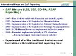 international paper and sap reporting