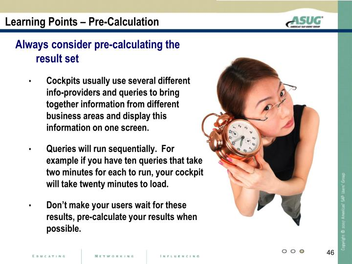 Learning Points – Pre-Calculation