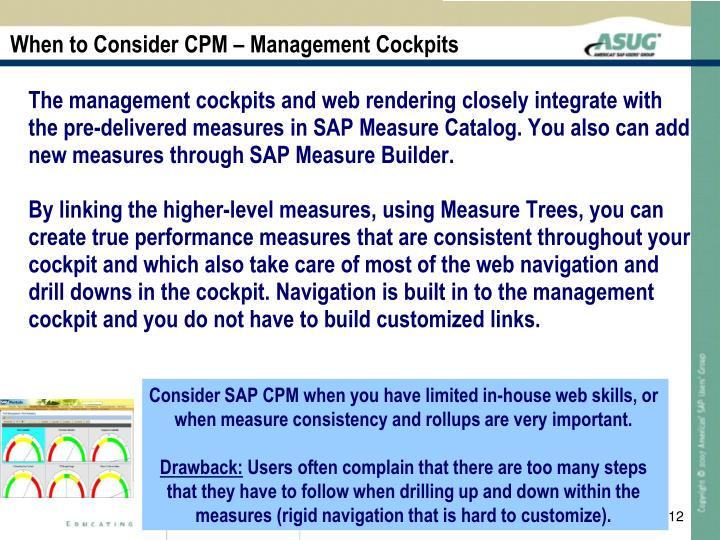 When to Consider CPM – Management Cockpits