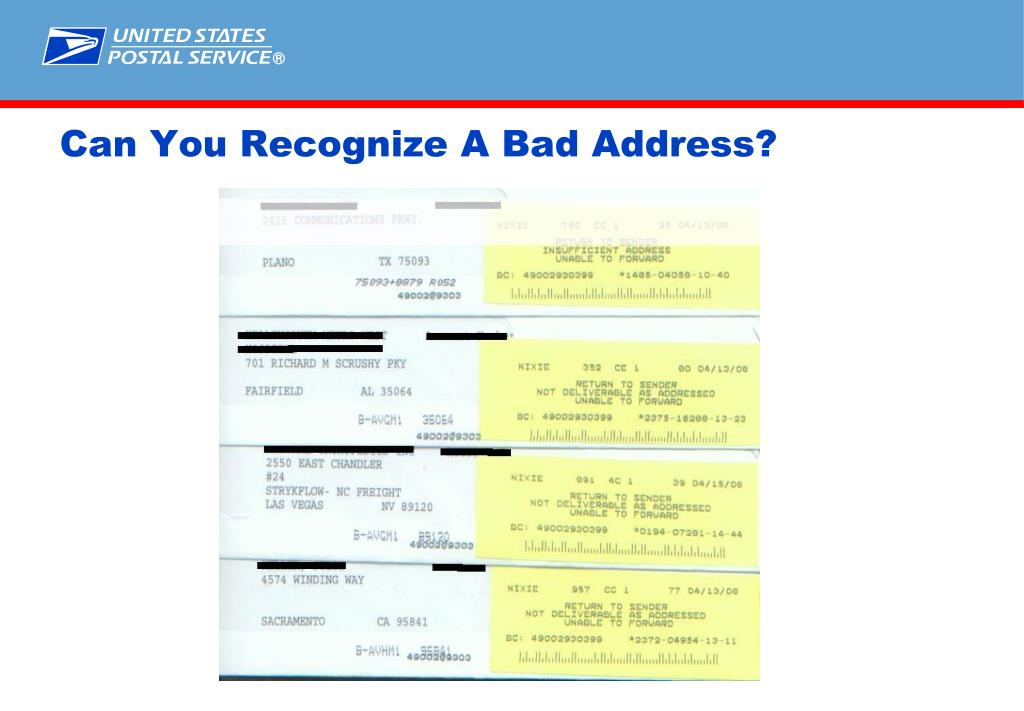 Can You Recognize A Bad Address?