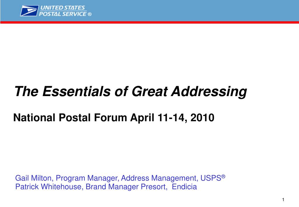 The Essentials of Great Addressing