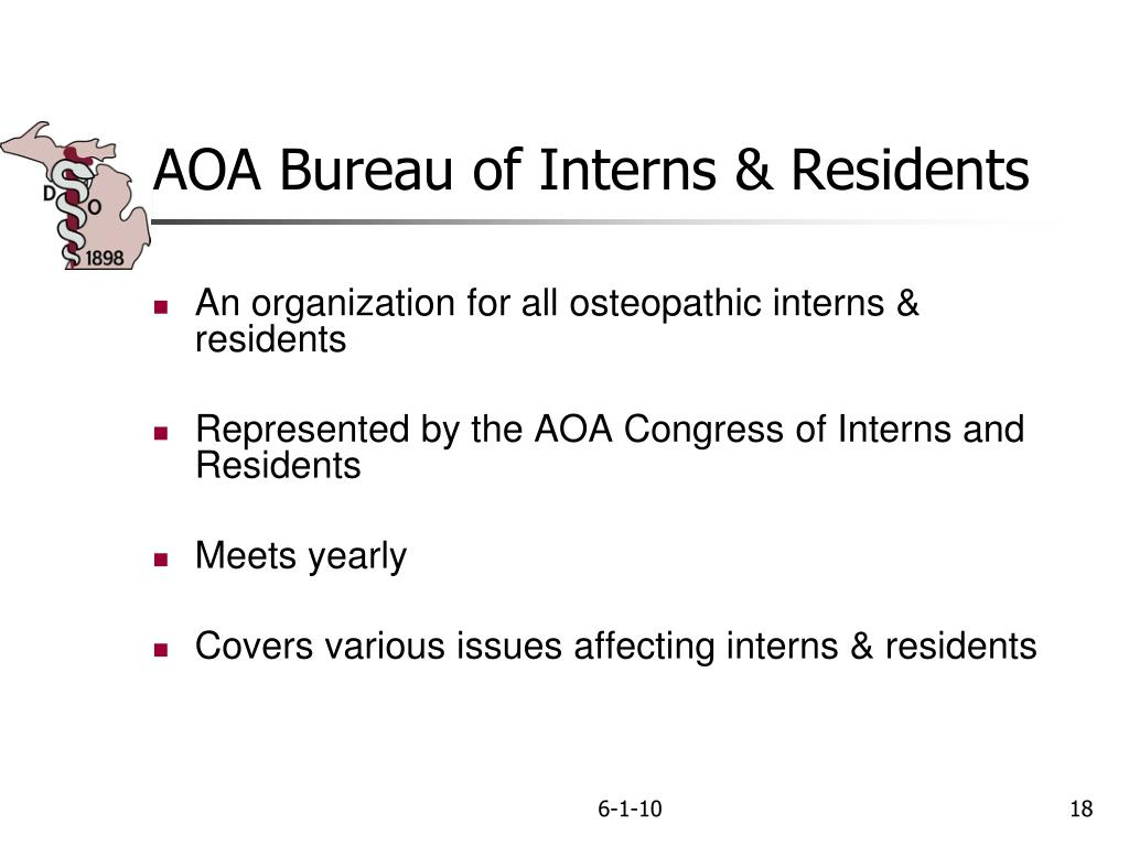 AOA Bureau of Interns & Residents