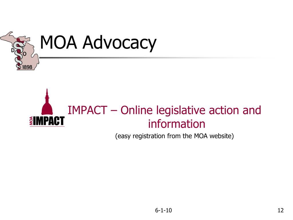 MOA Advocacy