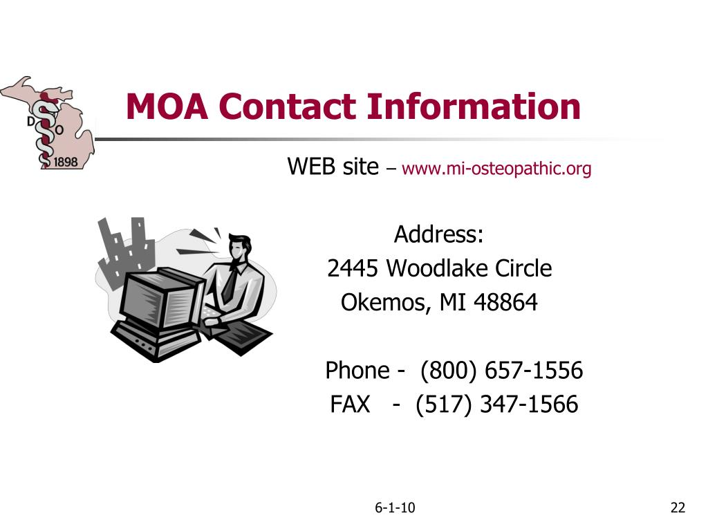 MOA Contact Information