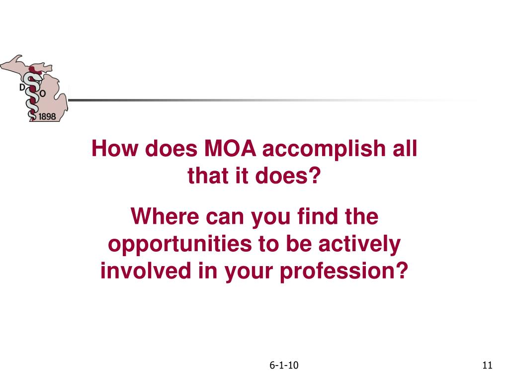 How does MOA accomplish all that it does?