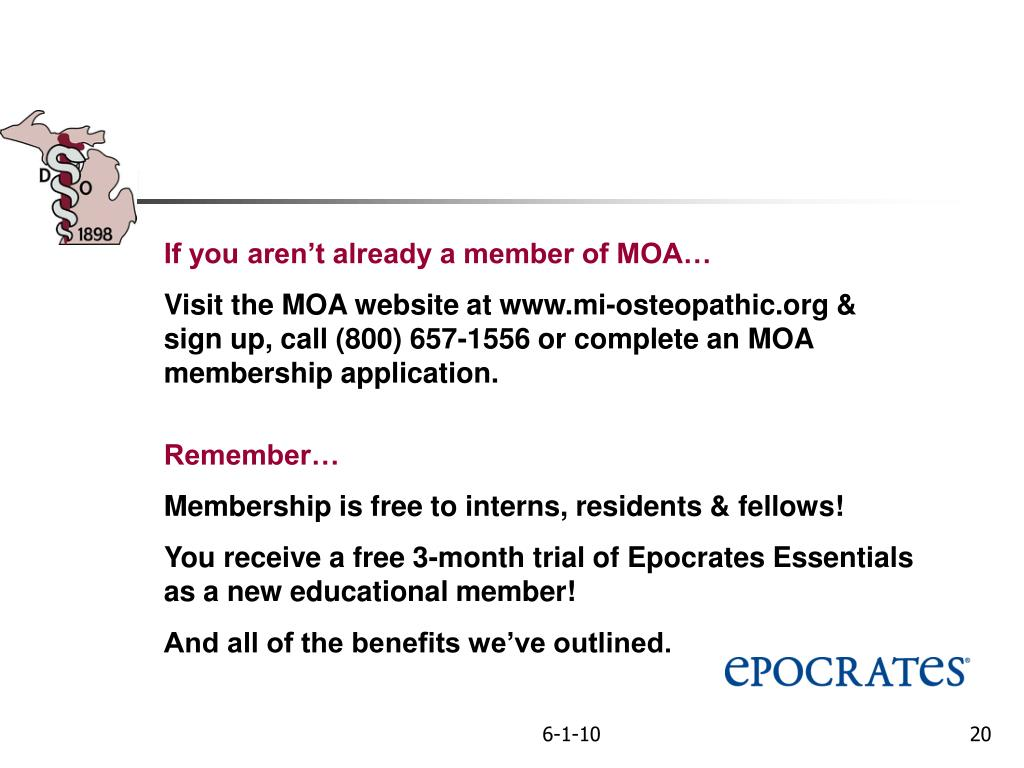 If you aren't already a member of MOA…
