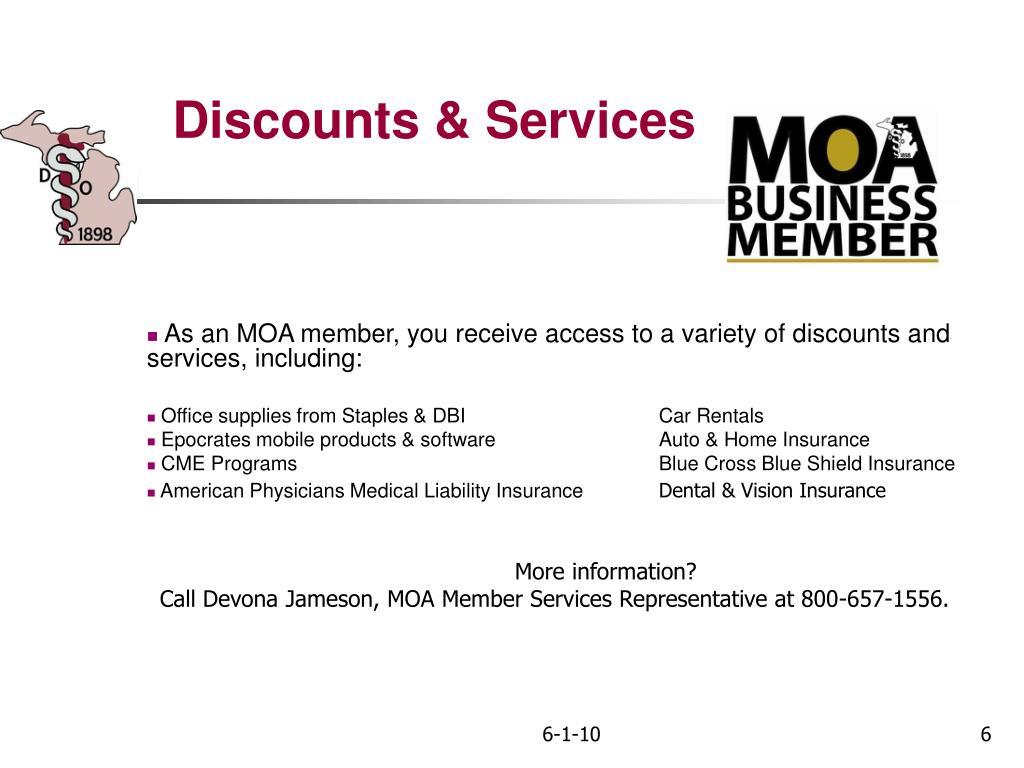 Discounts & Services