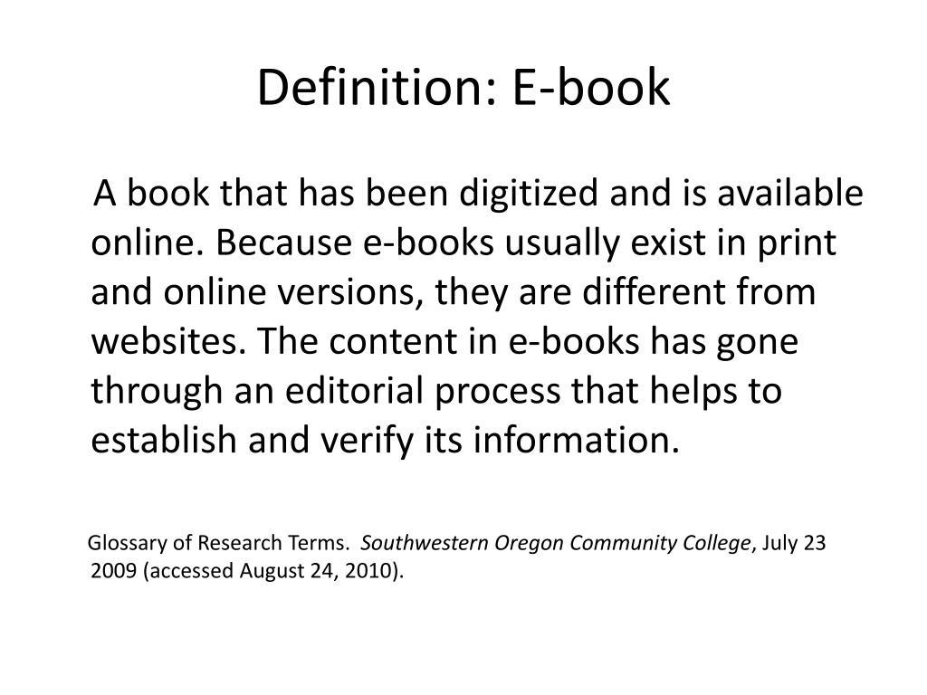 Definition: E-book