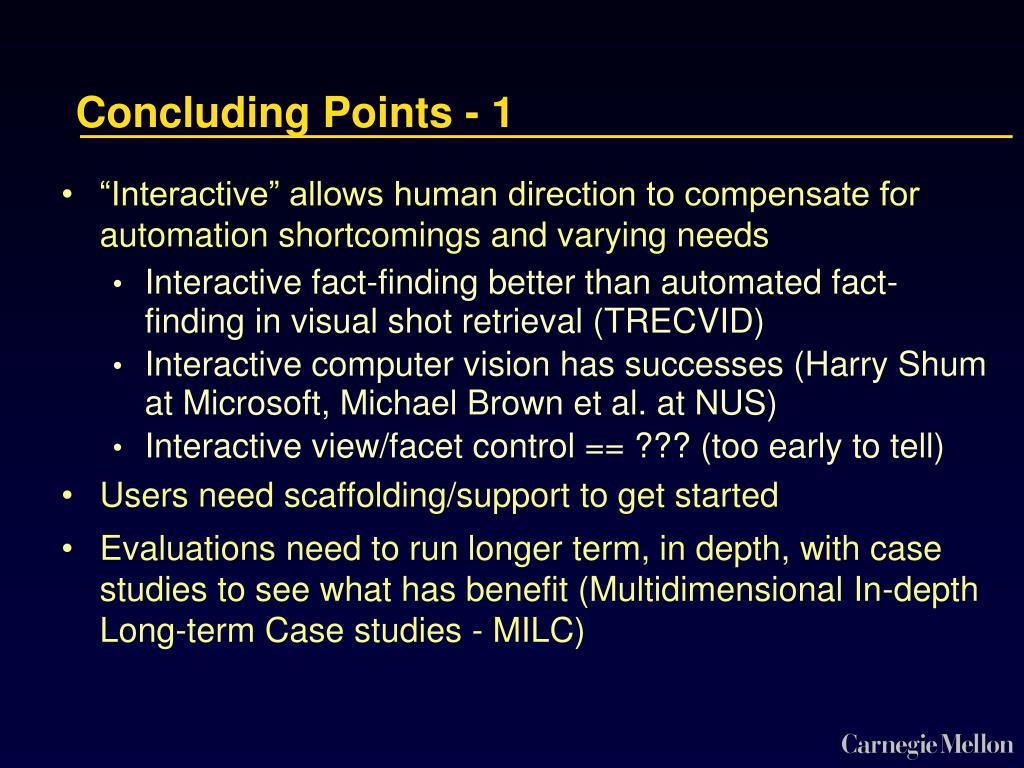Concluding Points - 1