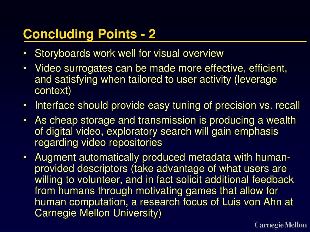Concluding Points - 2