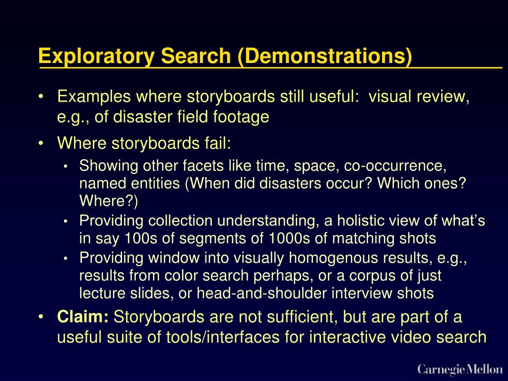 Exploratory Search (Demonstrations)
