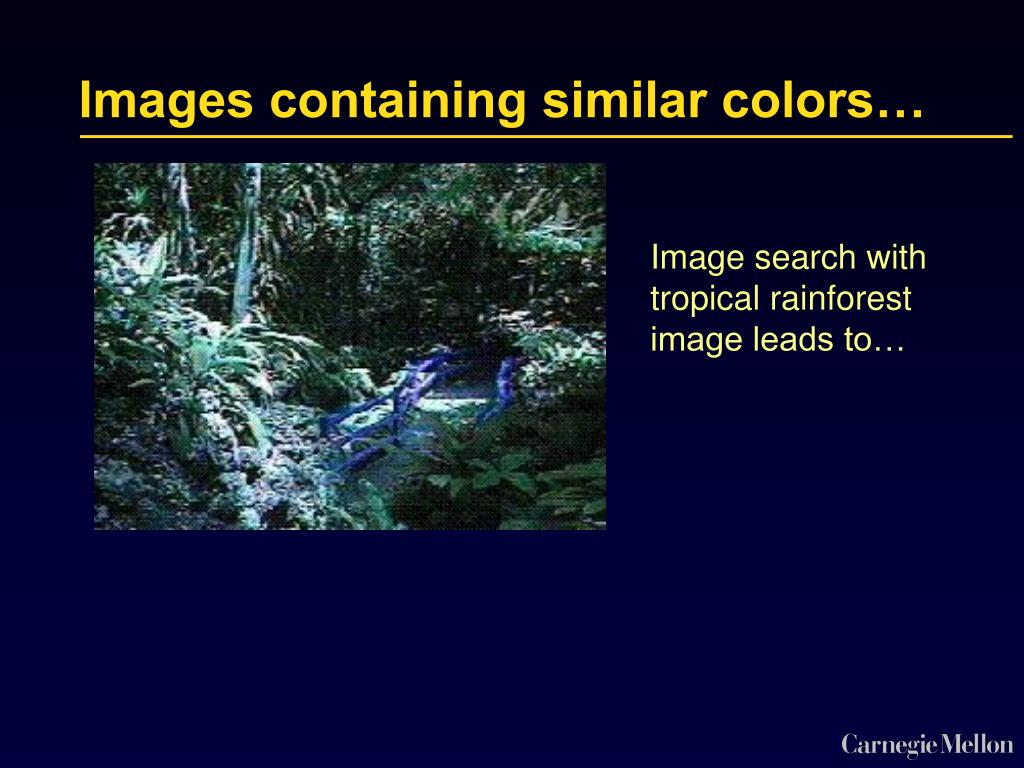 Images containing similar colors…
