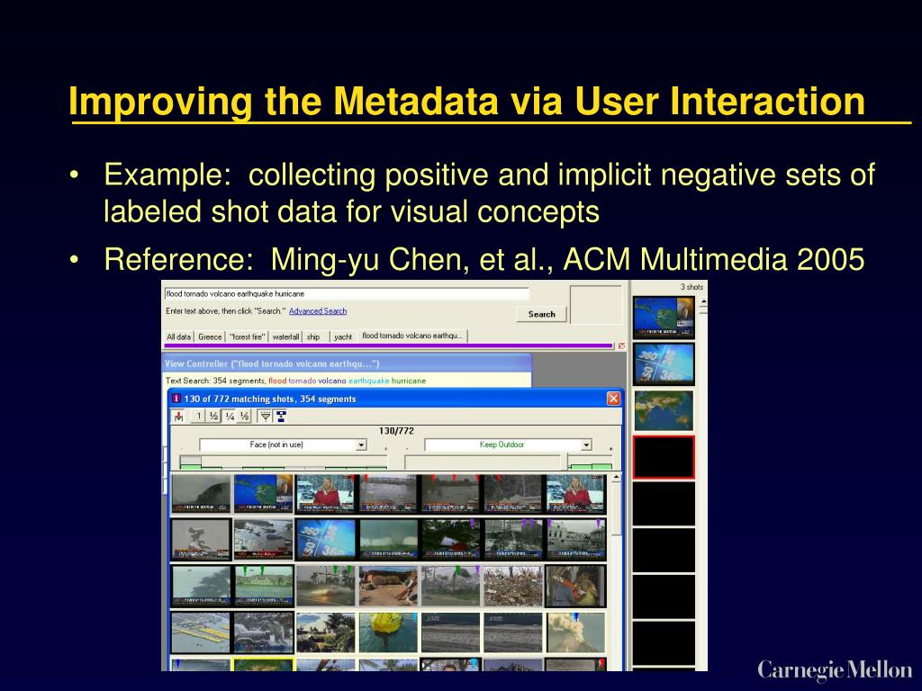 Improving the Metadata via User Interaction