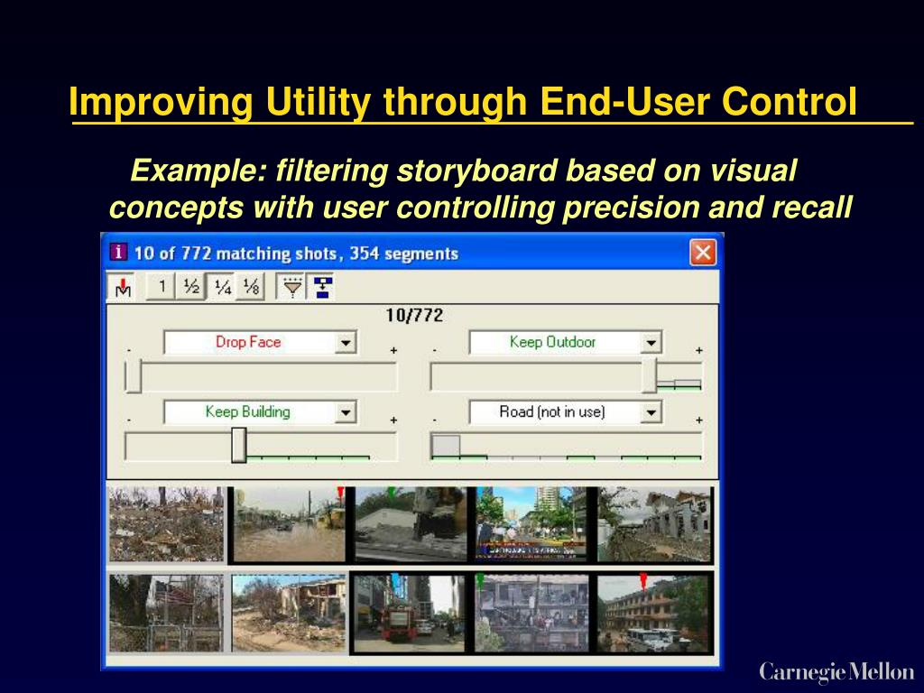 Improving Utility through End-User Control