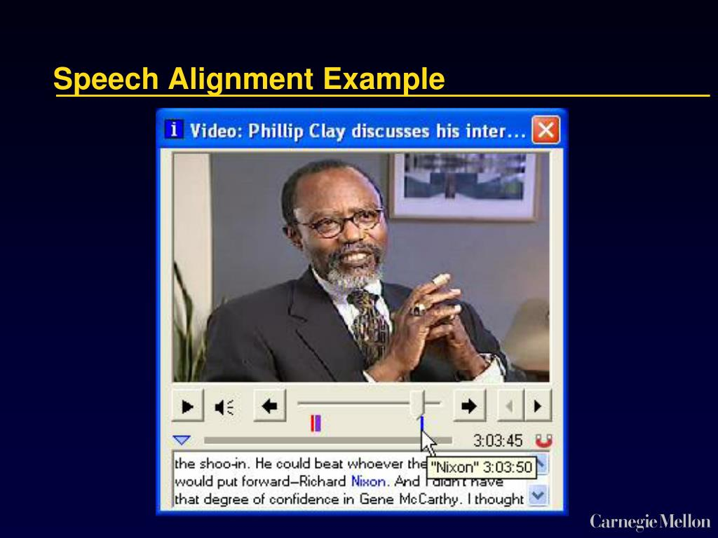 Speech Alignment Example