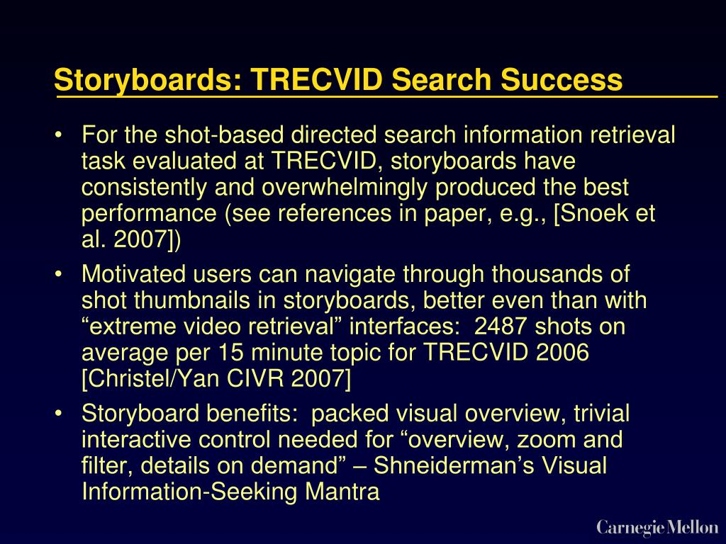 Storyboards: TRECVID Search Success