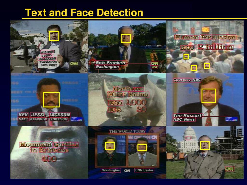 Text and Face Detection