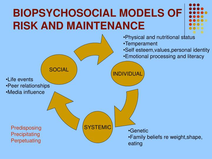 BIOPSYCHOSOCIAL MODELS OF RISK AND MAINTENANCE