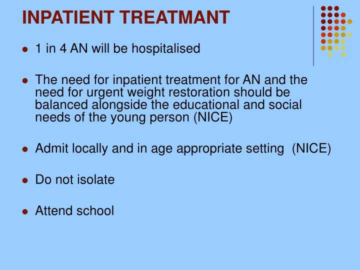 INPATIENT TREATMANT