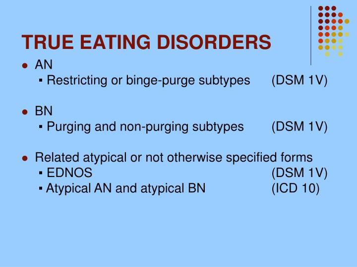 TRUE EATING DISORDERS