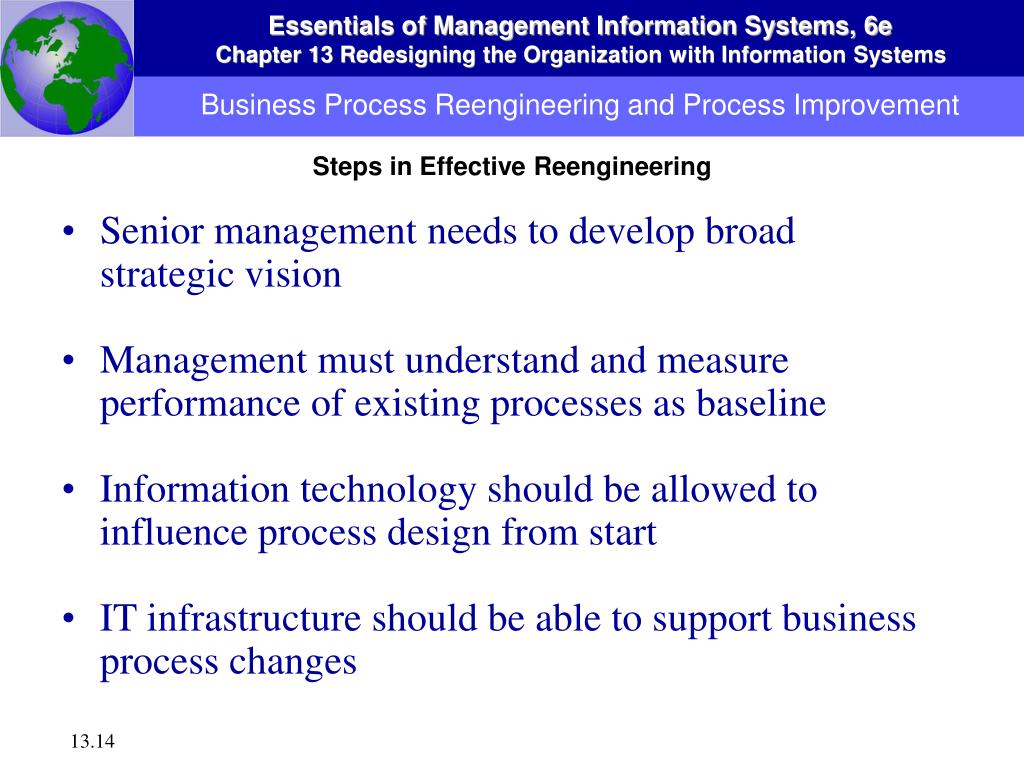 Business Process Reengineering and Process Improvement