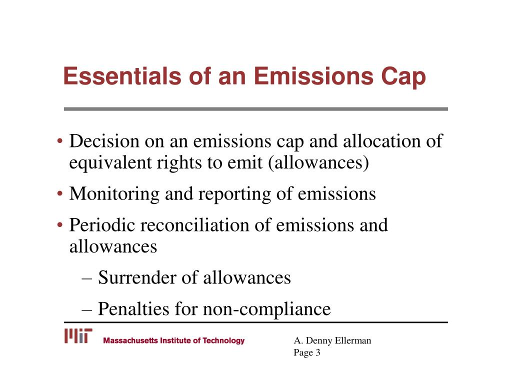 Essentials of an Emissions Cap