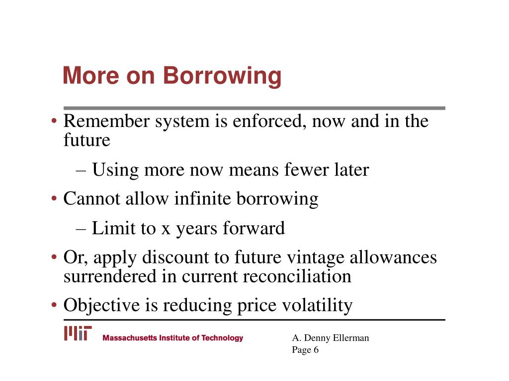 More on Borrowing