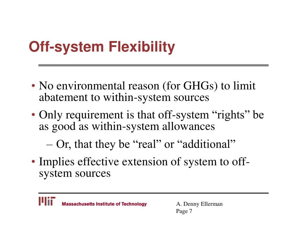 Off-system Flexibility