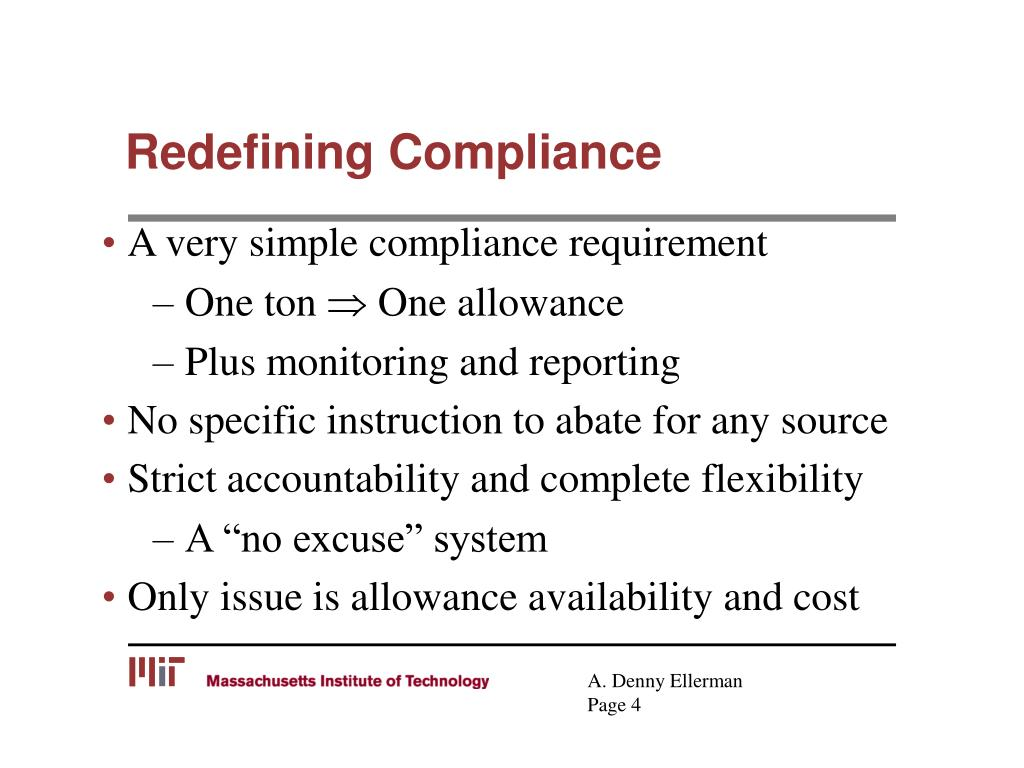 Redefining Compliance