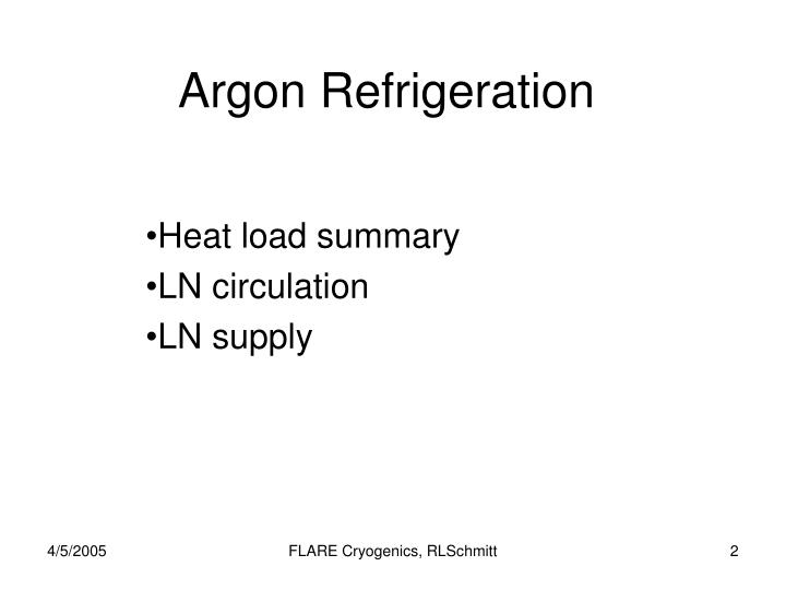Argon refrigeration