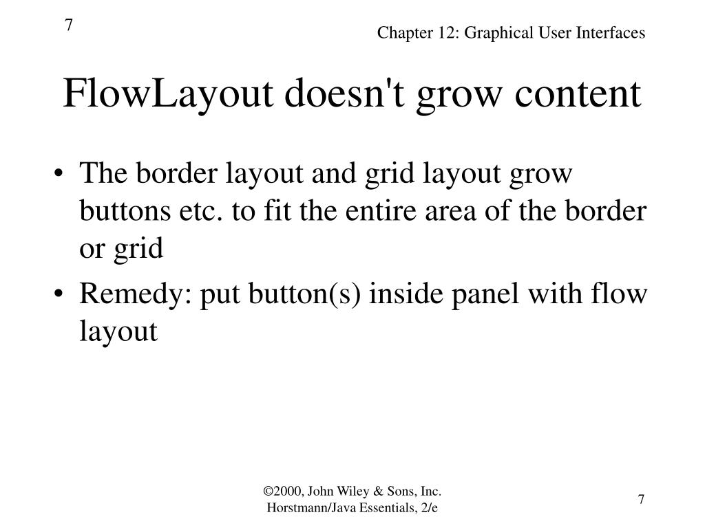 FlowLayout doesn't grow content