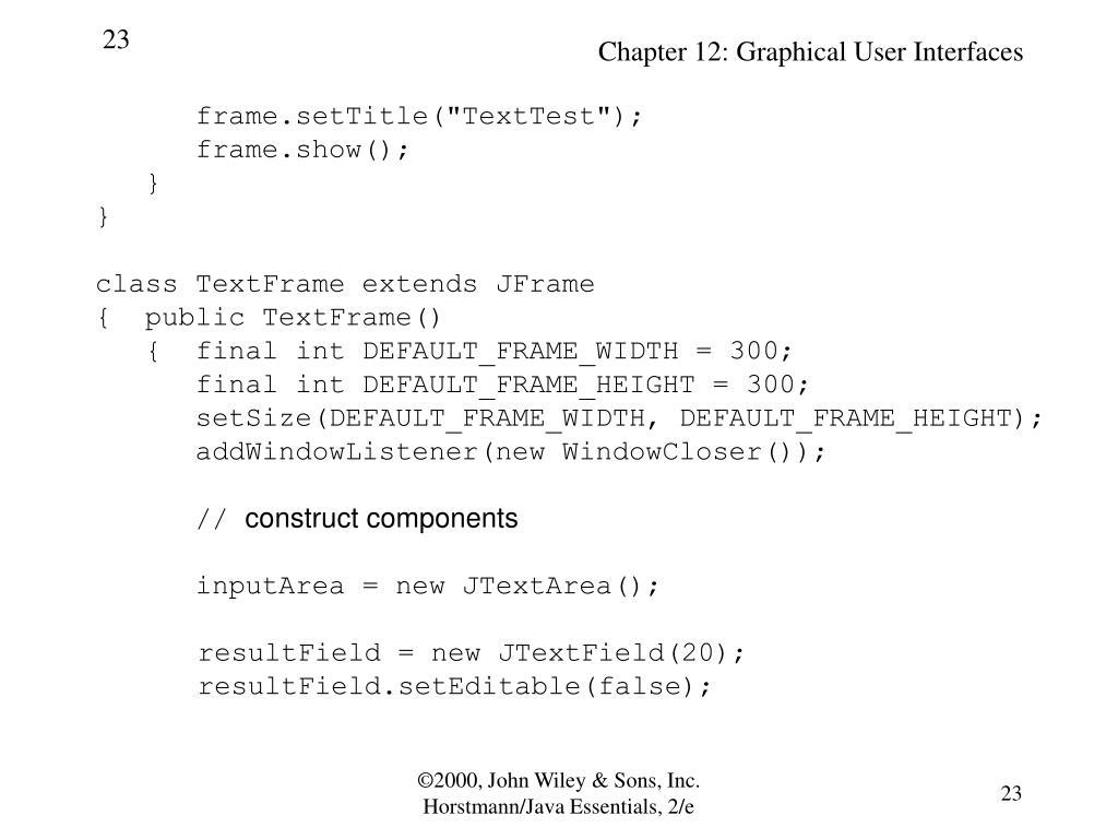 "frame.setTitle(""TextTest"");"