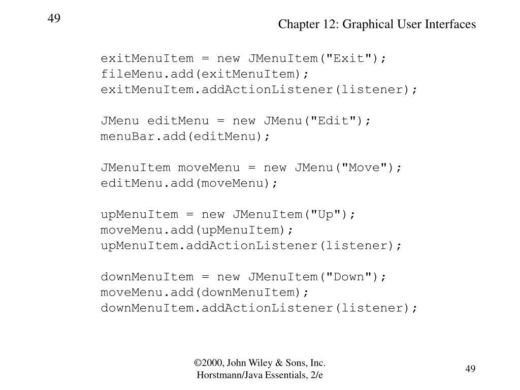 "exitMenuItem = new JMenuItem(""Exit"");"