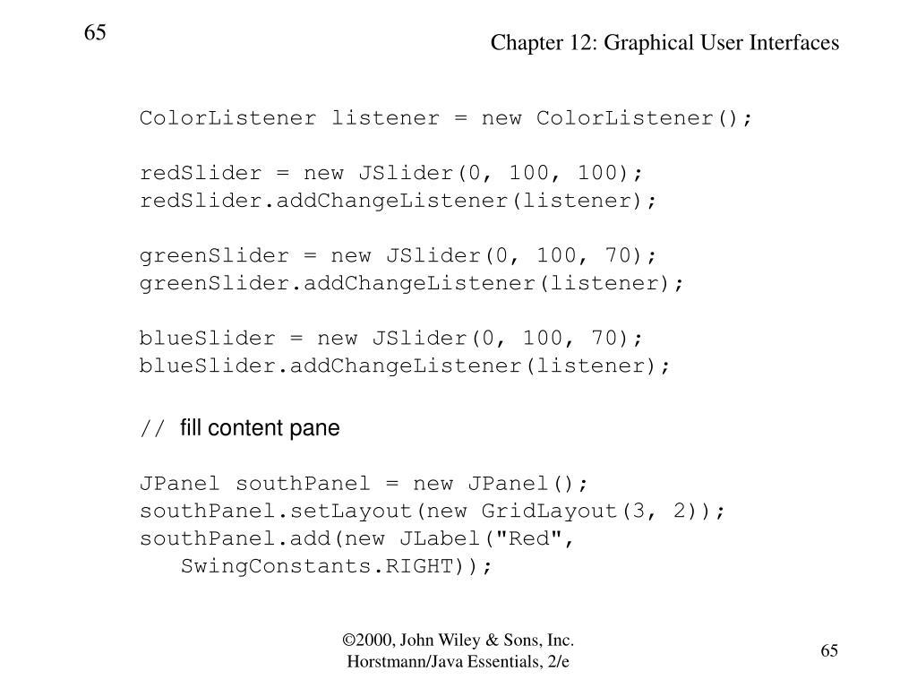 ColorListener listener = new ColorListener();