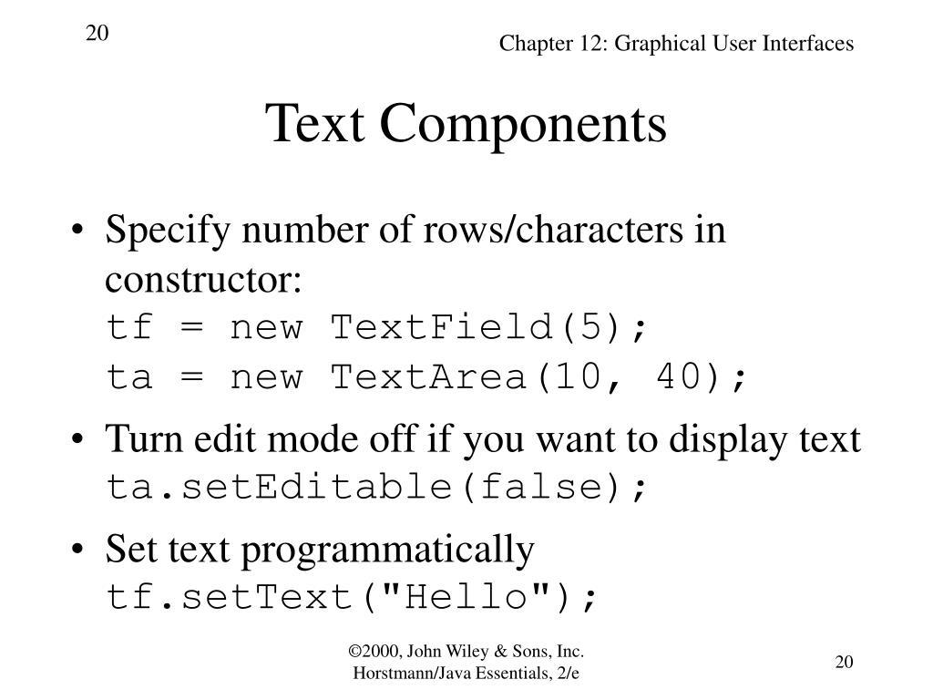 Text Components