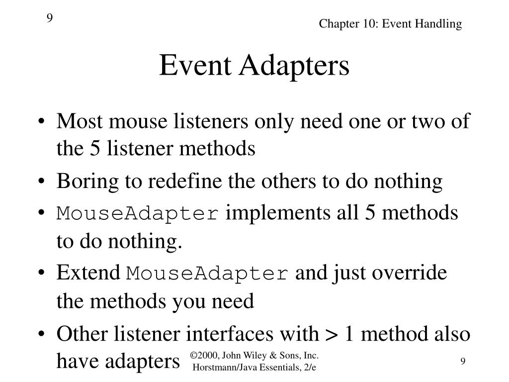 Event Adapters