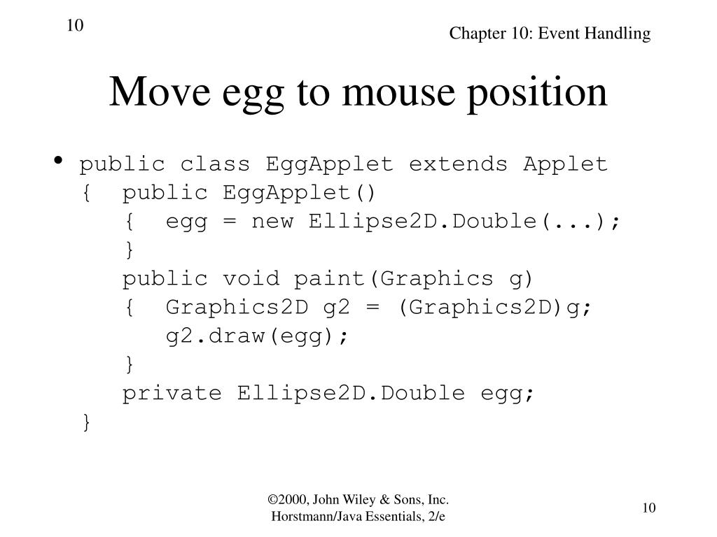 Move egg to mouse position