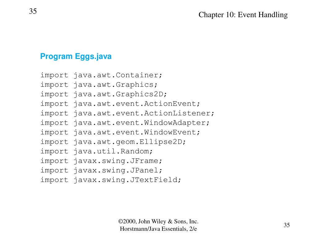 Program Eggs.java
