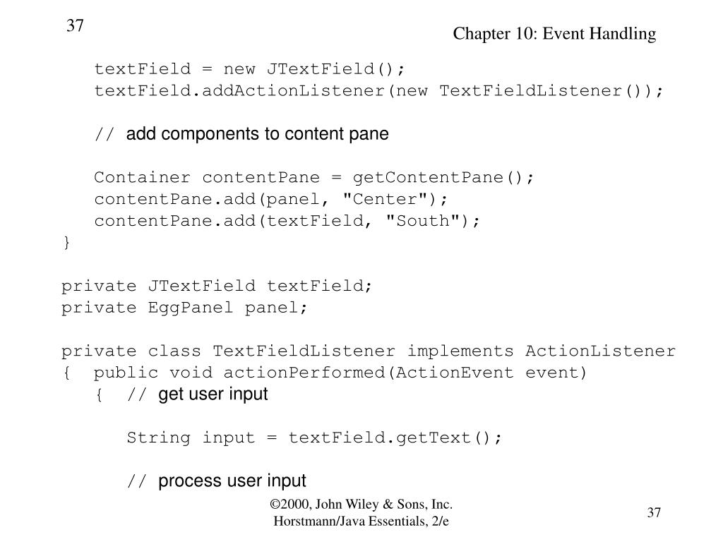 textField = new JTextField();