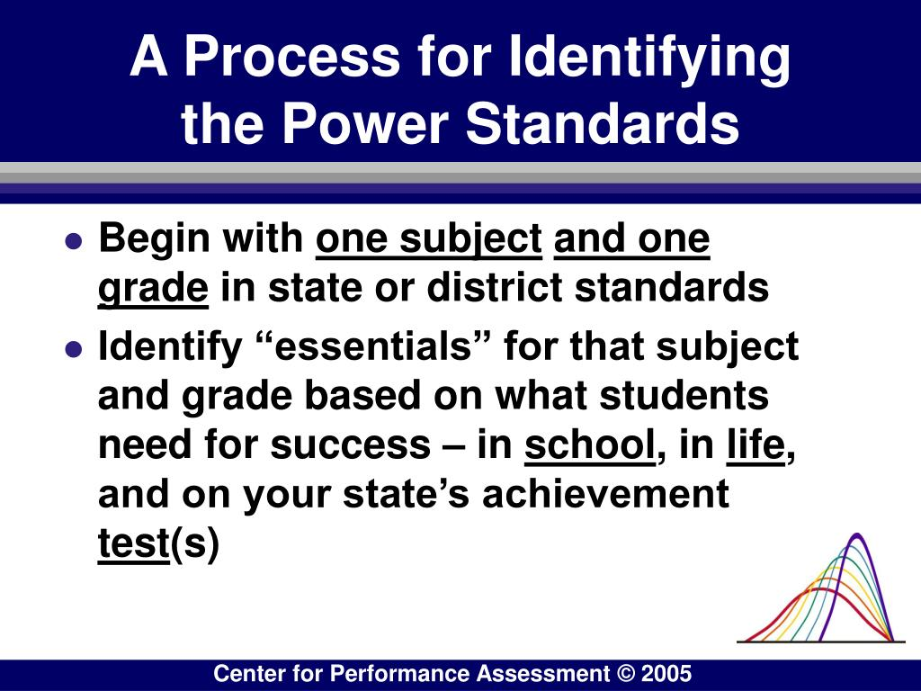 A Process for Identifying the Power Standards