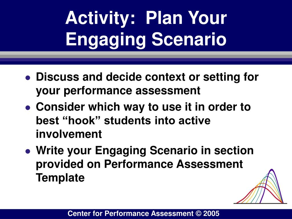 Activity:  Plan Your Engaging Scenario