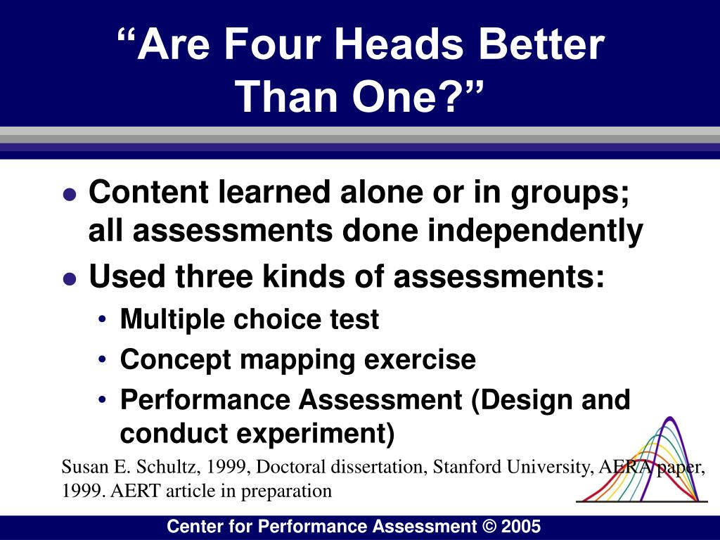 """""""Are Four Heads Better Than One?"""""""